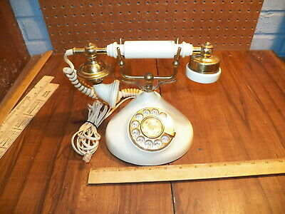 Vintage RADIO SHACK French Style Rotary Dial Phone Model 43-326A