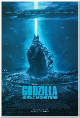 GODZILLA: KING OF THE MONSTERS -2019- original 27X40 FINAL Movie Poster -credits