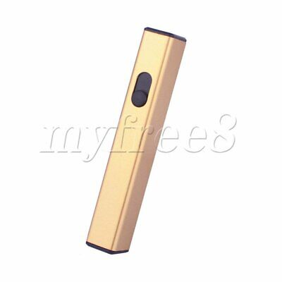 Mini Rechargeable USB Electronic Lighter No Gas Lighter D-812 Gold