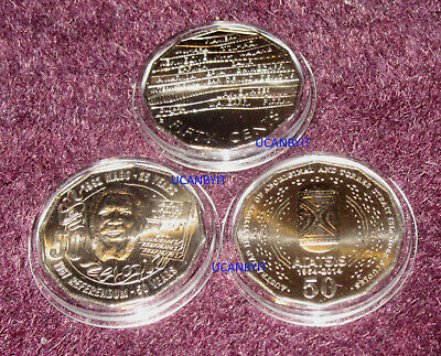 3 Special UNC 2014 2017 2019 Indigenous 50c Coins MABO AIATSIS ex bags CAPSULES