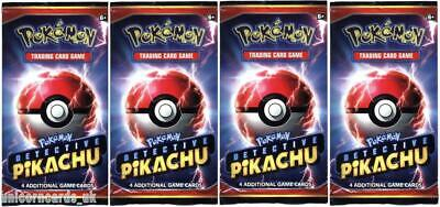 Pokemon TCG: Detective Pikachu 4 Booster Packs - Brand New And Sealed!