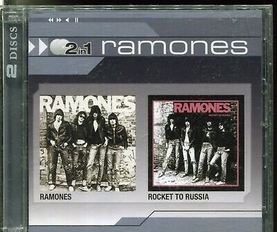 THE RAMONES - RAMONES & ROCKET TO RUSSIA on 2 CD's -