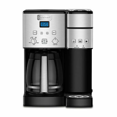 Cuisinart SS-15 12-Cup Coffee Maker and Single-Serve Brewer, Stainless Steel B