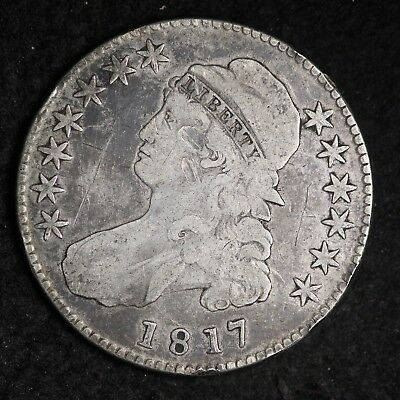 1817 Capped Bust Half Dollar CHOICE VG+ FREE SHIPPING E317 XLW