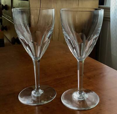 2 Mint Baccarat Crystal Genova Claret Red Wine Glasses Goblets 6.5""