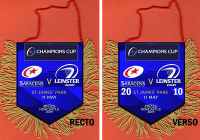 Pennant  Fanions  Finale Rugby Champions Cup 2019 Saracens Vs Leinster