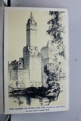 New York NY NYC Sherry Netherland Postcard Old Vintage Card View Standard Post