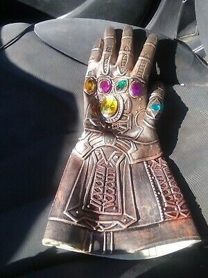 US! Thanos Infinity Gauntlet Gloves Cosplay Avengers Infinity War Prop