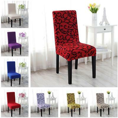 Removable Stretch Seat Chair Cover Short Dining Room Home Stool Slipcovers LD