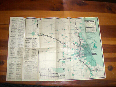 VINTAGE ILLINOIS TOLLWAY Road Map 1984-85 State Toll Highway ... on illinois road conditions interactive map, illinois state road map, illinois real estate map, illinois turnpike map, illinois road map online, illinois tollway oasis, illinois restaurant map, illinois dot construction map, e-470 tollway map, illinois department of transportation, northwest tollway, indiana illinois road map, illinois unpaid tolls, illinois state region, illinois natural gas pipeline map, winter road conditions illinois map, illinois state map with counties and cities, northeastern illinois road map, tri-state tollway, illinois road closure map, illinois route 47 map, illinois 4th congressional district map, chicago skyway, road construction in illinois map, illinois highway names,