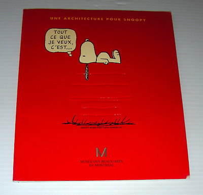 Architecture for SNOOPY French exhibition catalog for Architect 1992 peanuts