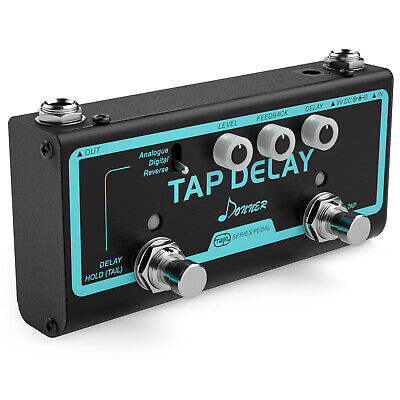 Donner Guitar Effect Pedal Tap Delay Analogue Digital Reverse 3 Delay Modes