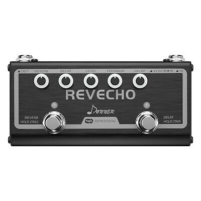 Donner Revecho Guitar Effect Pedal Delay and Reverb 2 Modes Aluminum Alloy