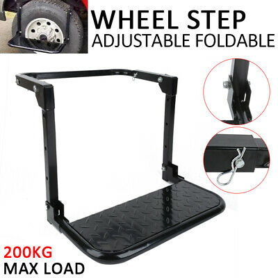 Wheel Step Foldable Lift Stair Truck Car Tyre 4WD 4X4 Folding Ladder Adjustable