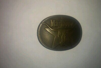 marlboro brass belt buckle