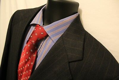 3c6f8398f3ffc VTG Norman Hilton Mens Black Stripe 2 Button Sport Coat 41R 100% Wool Blazer