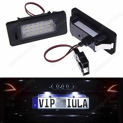 Canbus LED License Number Plate Light For Audi A1 A3 A4 S4 A5 Q5 A6 A7 VW Golf