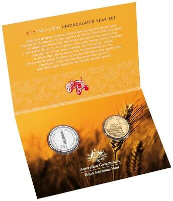 2012 Australia $1 UNC Coin 'C' Mintmark Wheat Sheaf Dollar BLUEBELL Counterstamp