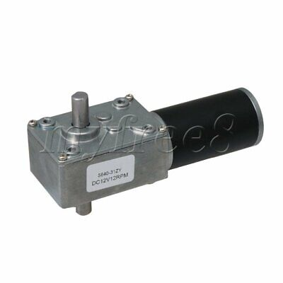 31ZY DC12V Reversible High Torque Worm Gear Reducer Motor Double-Shaft for DIY