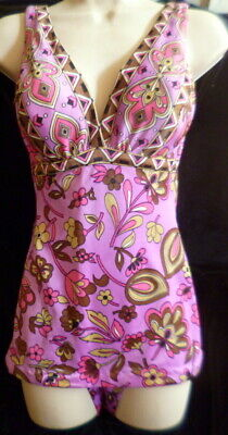 Vintage 1960s CATALINA Pucci Inspired Swimsuit Bathing Suit Bust 36