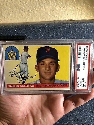 1955 Topps Harmon Killebrew #124 PSA 8 (OC) Near MINT-MINT BEAUTIFUL Specimen