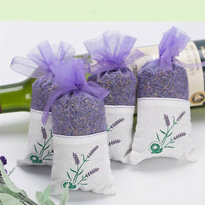 Real Dry Lavender Organic Dried Flowers Sachets Bud Bloom Bag Scents Fragra W3R6