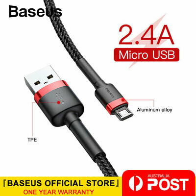 Baseus Micro USB Cable 2.4A Fast Charging Data Cord for Samsung OPPO Android