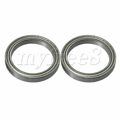2x Silver Bearing Steel Micro Iron Cover Ball Shielded Bearing Replacements