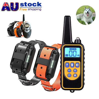 Rechargeable Pet Dog Training Collar Waterproof Remote Auto Pet Trainer AU Post