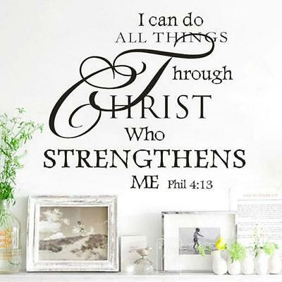 I can Do ALL Things Through Christ Jesus Quote Wall Christian Sticker Decal HC