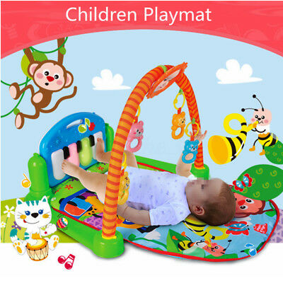 Baby Gym Floor Play Mat Activity Center Fisher Price Kick and Play Piano Toy