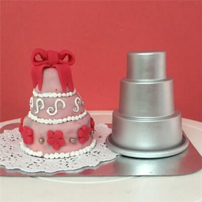 3-Tier DIY Cake Mold Pan Mini Cupcake Pudding Pastry Chocolate Mould Baking HC
