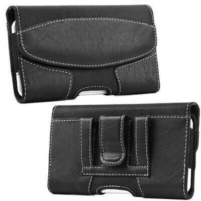 Cell Phone iPhone Men Horizontal Leather Carrying Pouch Case Cover Belt Holster