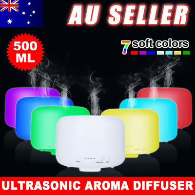 500ML Aroma Diffuser LED Ultrasonic Humidifier Air Mist Aromatherapy Purifier