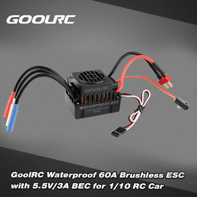GoolRC 60A Brushless Water Cooling Electric Speed Controller ESC with 5V//3A H4M7