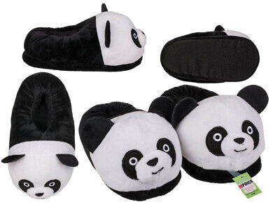 Childrens Kids Panda Shaped High Quality Super Soft Plush Slippers New With Tags