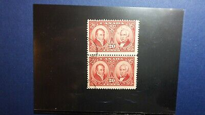 Canada used #148 CHECK PRICE pair Historical Issue CV $20