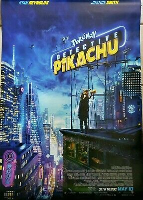 POKEMON DETECTIVE PIKACHU 2019 Genuine 27x40 1-sheet movie poster FINAL RATED DS