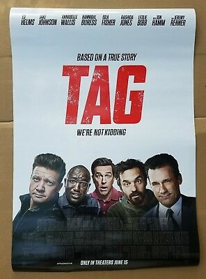 "TAG 2018  27x40 Movie 1-Sheet D/S Rolled Final Adv Ed Helms & BONUS ""Game Night"""