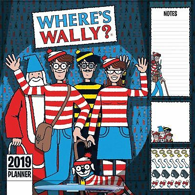 Wheres Wally Household Family Planner Official 2019 Wall Calendar New & Sealed