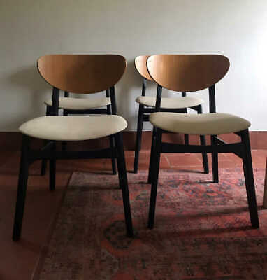 Set Of 4 Mid-Century Danish Style Dining Chairs 1960S Vintage
