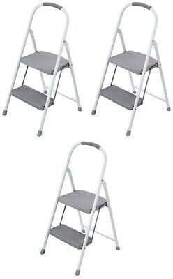 Terrific Rubbermaid 3 Step Steel Stool Folding Compact Ladder Home Caraccident5 Cool Chair Designs And Ideas Caraccident5Info