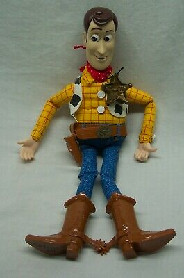 "VINTAGE Mattel Walt Disney Toy Story TALKING WOODY COWBOY 15"" Plush Doll Toy"