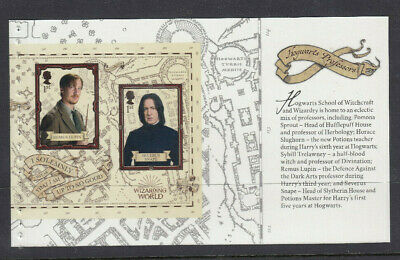 GB 2018 2 x 1st CLASS HARRY POTTER PROFESSORS BOOKLET PANE MNH from DY27
