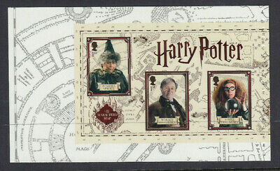 GB 2018 3 x 1st CLASS HARRY POTTER PROFESSORS BOOKLET PANE MNH from DY27