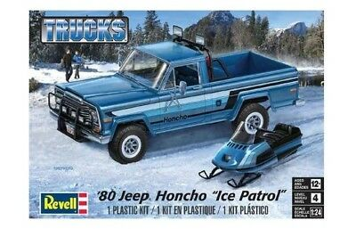 "Revell Monogram 7224 1980 Jeep Honcho ""Ice Patrol"" plastic model kit 1/25"