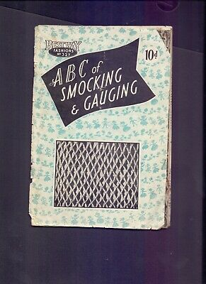 24 page Bestway Fashions No 327 A.B.C of Smocking & Gauging (RB2)