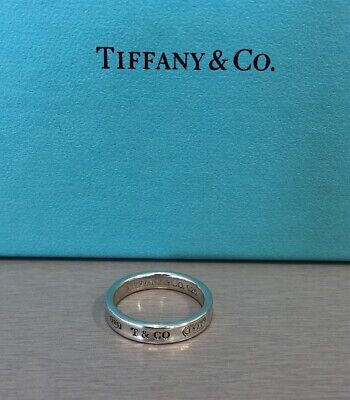 5c910cdee Tiffany & Co. Sterling Silver 1837 Collection Narrow Band Ring Unisex Size  6.75