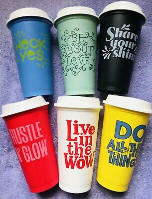 a9c93a11a72 Starbucks 2017 16 Oz Reusable Cup Collection Limited Edition Set Of 6 w/Lids
