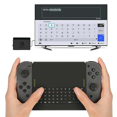 Wireless Keyboard for Nintendo Switch Joy-Cons Controller with 2.4G USB Adapter